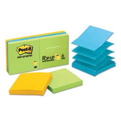 Original Pop-up Refill, 3 x 3, Assorted Jaipur Colors, 100-Sheet, 6/Pack