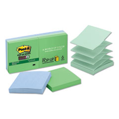Post-it® Pop-up Notes Super Sticky Pop-up Recycled Notes in Bora Bora Colors Thumbnail