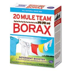 Dial® 20 Mule Team Borax Laundry Booster, Powder, 4 lb Box, 6 Boxes/Carton