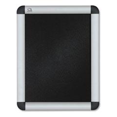 Quartet® Clip-Frame Aluminum Sign Holder, 8 1/2 x 11, Silvertone Frame