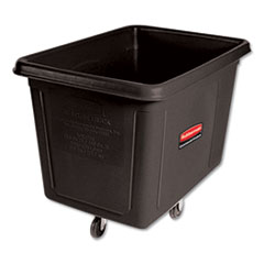 Rubbermaid® Commercial Cube Truck, Rectangular, 600 lb Capacity, Black