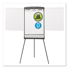 Quartet® Magnetic Dry Erase Easel, 27 x 35, White Surface, Graphite Frame