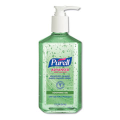 PURELL® Advanced Soothing Gel Hand Sanitizer, Fresh Scent with Aloe and Vitamin E, 12 oz Pump Bottle, 12/Carton
