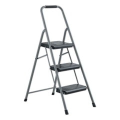 Louisville® Black and Decker Steel Step Stool, 3-Step, 200 lb Capacity, Gray