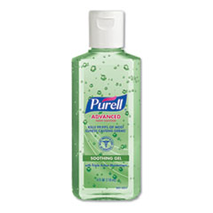 PURELL® Advanced Hand Sanitizer Soothing Gel, Fresh Scent with Aloe and Vitamin E, Flip-Cap Bottle, 4 oz, 24/Carton