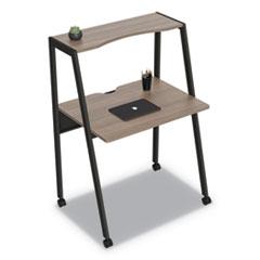 "Linea Italia® Kompass Flexible Home/Office Desk, 33"" x 23.75"" x 48"", Natural Walnut"