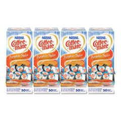 Coffee mate® Liquid Coffee Creamer, Pumpkin Spice, 0.38 oz Mini Cups, 50/Box, 4 Boxes/Carton, 200 Total/Carton