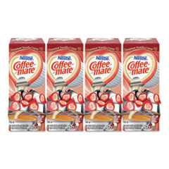 Coffee-mate® Liquid Coffee Creamer, Cinnamon Vanilla, 0.38 oz Mini Cups, 50/Box, 4 Boxes/Carton, 200 Total/Carton