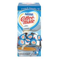 Coffee-mate® Liquid Coffee Creamer, French Vanilla, 0.38 oz Mini Cups, 50/Box
