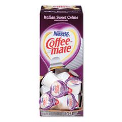 Liquid Coffee Creamer, Italian Sweet Creme, 0.38 oz Mini Cups, 50/Box