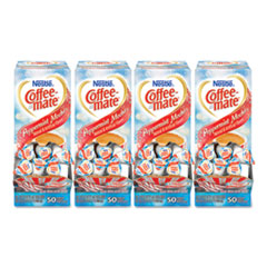 Coffee mate® Liquid Coffee Creamer, Peppermint Mocha, 0.38 oz Mini Cups, 50/Box, 4 Boxes/Carton, 200 Total/Carton