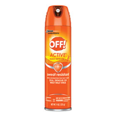 OFF!® ACTIVE Insect Repellent, 6 oz Aerosol, 12/Carton