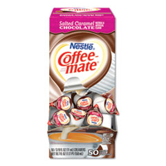Liquid Coffee Creamer, Salted Caramel Chocolate, 0.375 oz Mini Cups, 50/Box