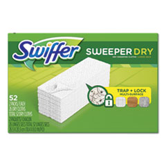 "Dry Refill Cloths, White, 10 2/5"" x 8"", 52/Box, 3 Boxes/Carton"