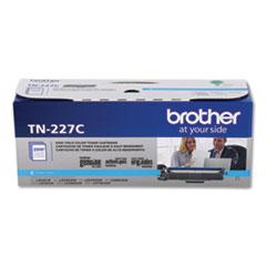 Brother TN227C High-Yield Toner, 2,300 Page-Yield, Cyan