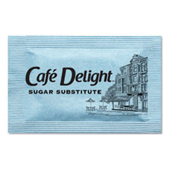 Café Delight Blue Sweetener Packets, 0.08 g Packet, 2000 Packets/Box