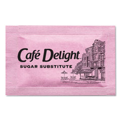 Café Delight Pink Sweetener Packets, 0.08 g Packet, 2000 Packets/Box