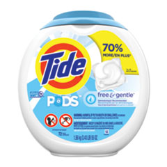 Tide® Free and Gentle Laundry Detergent, Pods, 72/Pack, 4 Packs/Carton