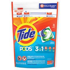 Tide® Pods, Laundry Detergent, Clean Breeze, 35/Pack, 4 Pack/Carton