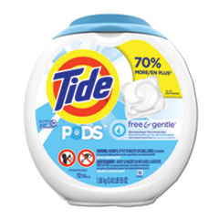 Tide® Free and Gentle Laundry Detergent, Pods, 72/Pack