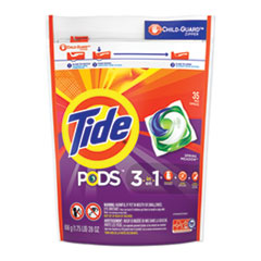 Tide® Pods, Laundry Detergent, Spring Meadow, 35/Pack, 4 Packs/Carton