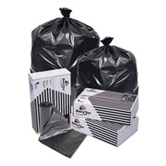 "Pitt Plastics Black Star Low-Density Can Liners, 16 gal, 0.35 mil, 24"" x 32"", Black, 500/Carton"