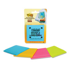 Full Stick Notes, 3 x 3, Assorted Rio de Janeiro Colors, 25 Sheets/Pad, 4/Pack