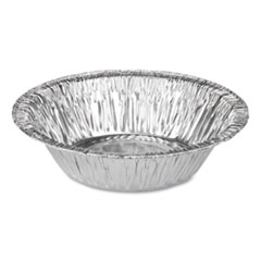 "Durable Packaging Aluminum Pie Pans, Tart, 5.7 oz, 5"" Diameter x 1.25""h, Silver, 1,000/Carton"
