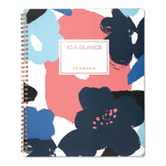 AT-A-GLANCE® Badge Floral Academic Planner, 11 x 8 1/2, 2019-2020