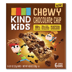 KIND Kids Bars, Chewy Chocolate Chip, 0.81 oz, 6/Pack