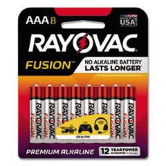 Fusion Advanced Alkaline AAA Batteries, 8/Pack