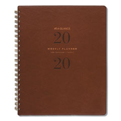 AT-A-GLANCE® Signature Collection™ Distressed Brown Weekly Monthly Planner