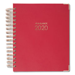 AT-A-GLANCE® Harmony Daily Hardcover Planner, 8 3/4 x 6 7/8, Berry, 2020