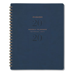 AT-A-GLANCE® Signature Collection® Firenze Navy Weekly/Monthly Planner