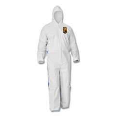KleenGuard™ A35 Coveralls, Hooded, Large, White, 25/Carton