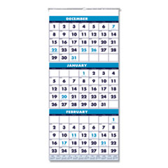 House of Doolittle™ 100% Recycled Three-Month Format Wall Calendar