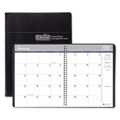 House of Doolittle™ Recycled 24-Month Ruled Monthly Planner, 11 x 8.5, Black, 2021-2022