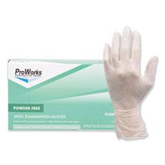 HOSPECO® ProWorks Exam Grade Disposable Vinyl Gloves, Large, Clear, 1000/Carton