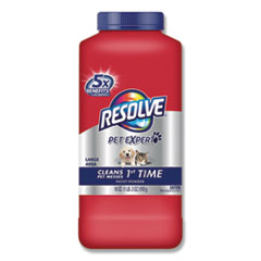 RESOLVE® Pet Carpet Cleaner Moist Powder, Fresh, 18oz Canister, 6/Carton
