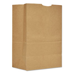 "General Grocery Paper Bags, 75 lbs Capacity, 1/6 BBL, 12""w x 7""d x 17""h, Kraft, 400 Bags"