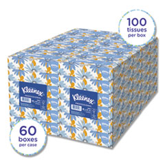 Kleenex® White Facial Tissue, 2-Ply, White, 100 Sheets/Box, 10 Boxes/Bundle, 6 Bundles/Carton