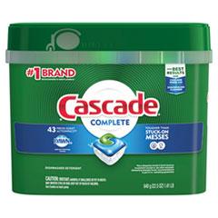 Cascade® ActionPacs, Fresh Scent, 22.5 oz Tub, 43/Tub, 6 Tubs/Carton