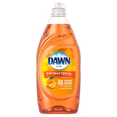 Dawn® Ultra Antibacterial Dishwashing Liquid, Orange Scent, 28 oz Bottle, 8/Carton