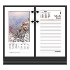 AT-A-GLANCE® Photographic Desk Calendar Refill, 3 1/2 x 6, 2020