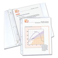 """Standard Weight Polypropylene Sheet Protectors, Clear, 2"""", 11 x 8 1/2, 50/BX"""