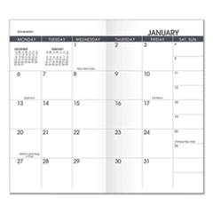 AT-A-GLANCE® Pocket Size Monthly Planner Refill, 6 1/8 x 3 1/2, White, 2020-2021