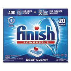 FINISH® Powerball Dishwasher Tabs, Fresh Scent, 20/Box, 8 Boxes/Carton