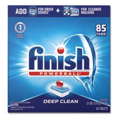 FINISH® Powerball Dishwasher Tabs, Fresh Scent, 85/Box, 4 Boxes/Carton
