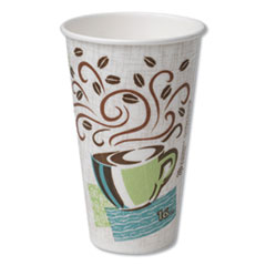 Dixie® Hot Cups, Paper, 16oz, Coffee Dreams Design, 500/Carton