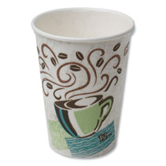 Dixie® Hot Cups, Paper, 12oz, Coffee Dreams Design, 50/Pack